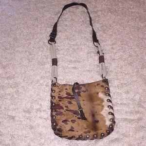 Handbags - Leather Cowhide Crossbody Bag